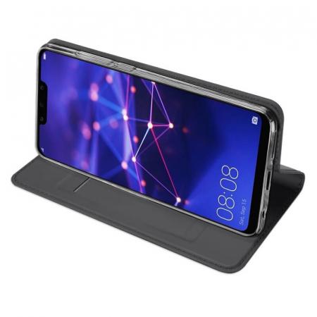 Husa Huawei Mate 20 Lite 2018 Toc Flip Tip Carte Portofel Negru Piele Eco Premium DuxDucis [2]