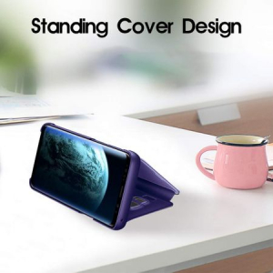 Husa Huawei Mate 20 Lite Clear View Flip Standing Cover (Oglinda) Mov (Purple)
