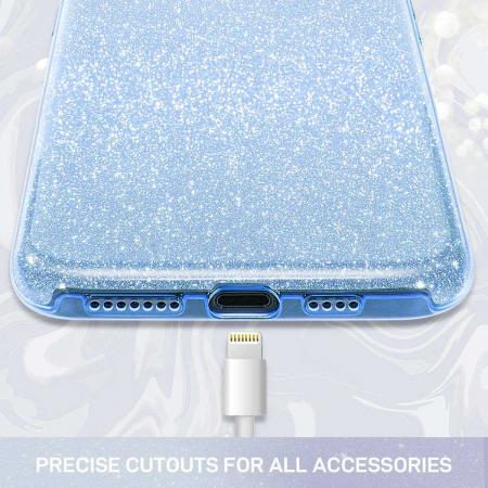 Husa Huawei Mate 30Pro Sclipici Albastru Silicon2