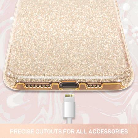 Husa Huawei Mate 30Pro Sclipici Auriu Gold Silicon2