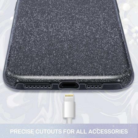 Husa Huawei Mate 30Pro Sclipici Negru Silicon2
