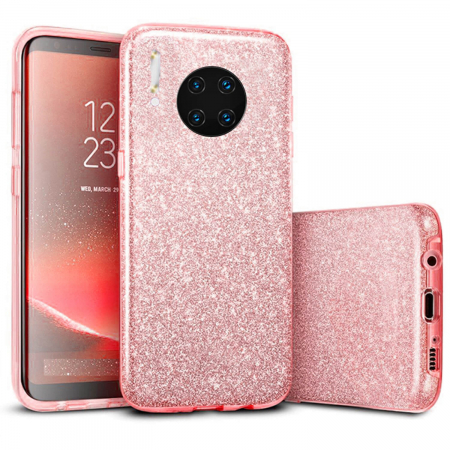 Husa Huawei Mate 30 Pro 2019 Sclipici Carcasa Spate Roz Silicon TPU [0]