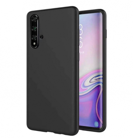 Husa Huawei Nova 5T Negru Silicon Slim protectie Premium Carcasa0