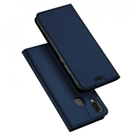 Husa Huawei P Smart 2019 Toc Flip Tip Carte Portofel Bleumarin Piele Eco DuxDucis4