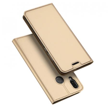 Husa Flip Huawei P Smart Z Tip Carte Auriu Skin DuxDucis4