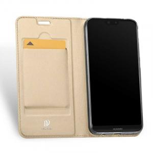 Husa Flip Huawei P20 Lite 2018 Tip Carte Auriu Skin DuxDucis1