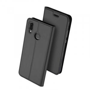 Husa Flip Huawei P20 Lite 2018 Tip Carte Negru Skin DuxDucis0
