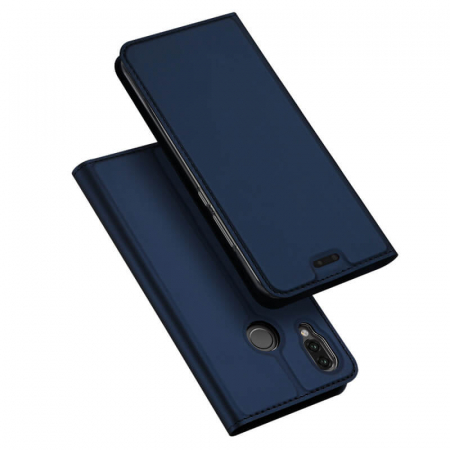 Husa Huawei P20 Lite 2019 Toc Flip Tip Carte Portofel Bleumarin Piele Eco Premium DuxDucis4