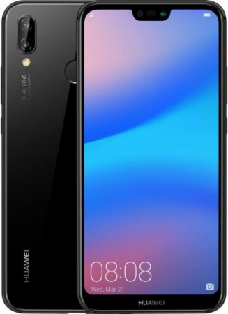 Husa Huawei P20 Lite Flip Oglinda Negru Tip Carte Clear View5