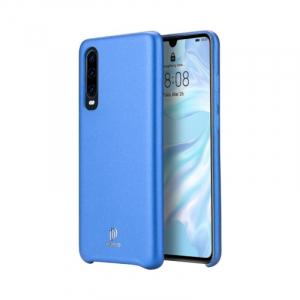 Husa Huawei P30 2019 Carcasa Spate TPU Piele Ecologica  Albastru Premium DuxDucis Skin Lite0