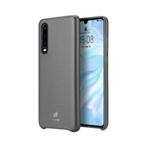 Husa Huawei P30 2019 Carcasa Spate Negru TPU Piele Ecologica Premium DuxDucis Skin Lite [0]