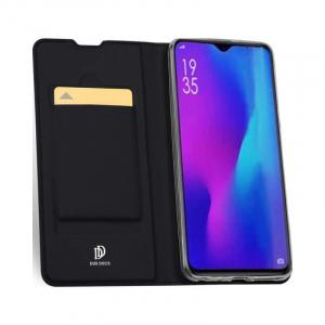 Husa Huawei P30 2019 Toc Flip Tip Carte Portofel Piele Eco Premium DuxDucis Negru [1]