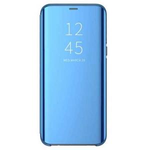 Husa Huawei P30 Lite 2019 Clear View Flip Toc Carte Standing Cover Oglinda Albastru0