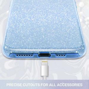 Husa Huawei P30 Lite 2019 Sclipici Carcasa Spate Albastru Silicon TPU1