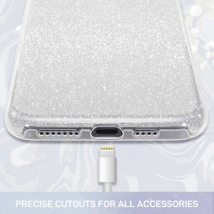 Husa Huawei P30 Lite 2019 Sclipici Argintiu Silicon1