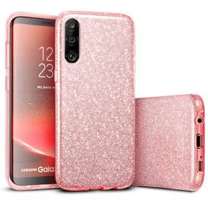 Husa Huawei P30 Lite 2019 Sclipici Roz Silicon0