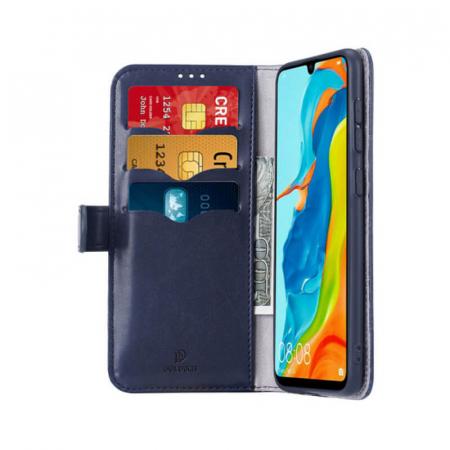 Husa Flip Huawei P30 Lite Albastru Piele Ecologica Tip Carte Kado1