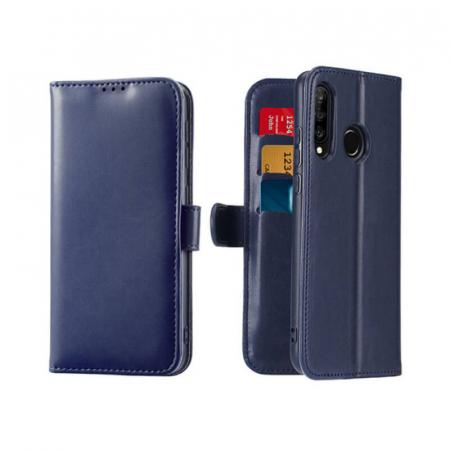 Husa Flip Huawei P30 Lite Albastru Piele Ecologica Tip Carte Kado0