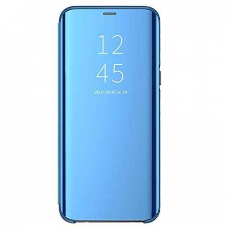 Husa Flip Mirror Huawei P30 Pro 2019 Albastru Clear View Oglinda0