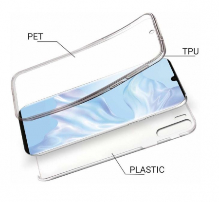 Husa Huawei P30 Pro 360 Grade Silicon Fata Spate Transparenta2