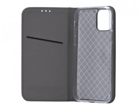 Husa Huawei P40 Lite 2020 Tip Carte Flip Cover Smart Negru [2]