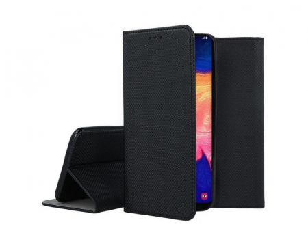 Husa Huawei P40 Lite 2020 Tip Carte Flip Cover Smart Negru [0]