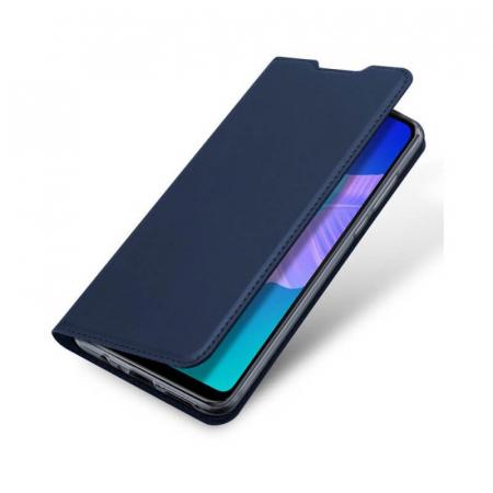 Husa Huawei P40 Lite 2020 Toc Flip Tip Carte Portofel Bleumarin Piele Eco DuxDucis3