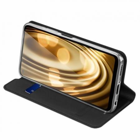 Husa Huawei P40 Lite 2020 Toc Flip Tip Carte Portofel Negru Piele Eco DuxDucis [2]