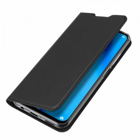 Husa Huawei P40 Lite 2020 Toc Flip Tip Carte Portofel Negru Piele Eco DuxDucis [6]