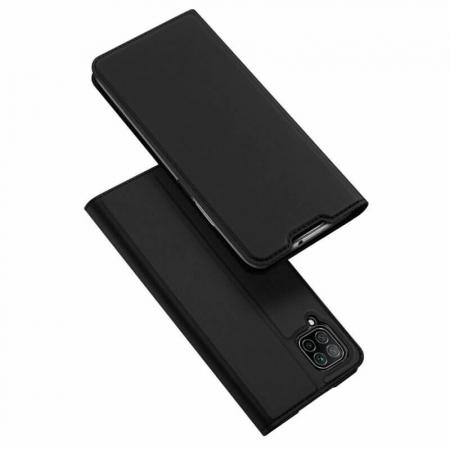 Husa Huawei P40 Lite 2020 Toc Flip Tip Carte Portofel Negru Piele Eco DuxDucis [0]