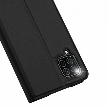 Husa Huawei P40 Lite 2020 Toc Flip Tip Carte Portofel Negru Piele Eco DuxDucis [3]