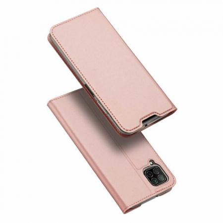 Husa Huawei P40 Lite 2020 Toc Flip Tip Carte Portofel Roz Piele Eco DuxDucis0