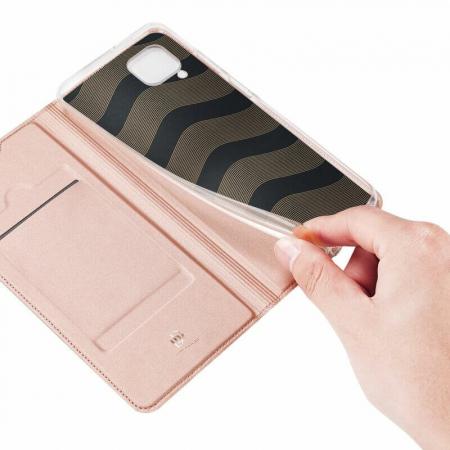Husa Huawei P40 Lite 2020 Toc Flip Tip Carte Portofel Roz Piele Eco DuxDucis4
