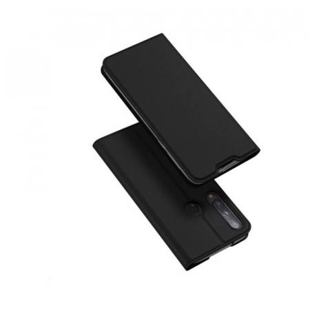 Husa Flip Huawei P40 Lite E Tip Carte Negru Skin DuxDucis0