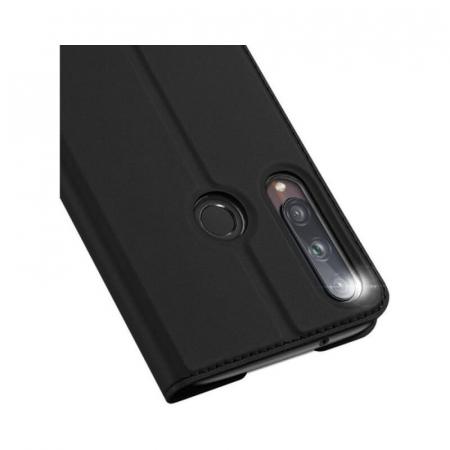 Husa Flip Huawei P40 Lite E Tip Carte Negru Skin DuxDucis3