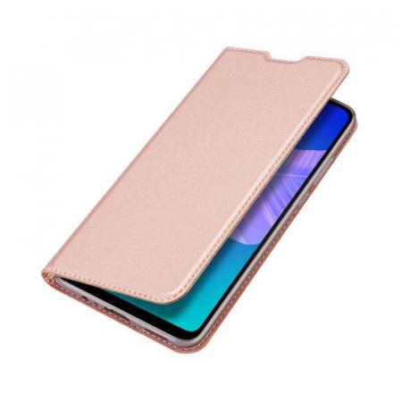 Husa Huawei P40 Lite E 2020 Toc Flip Tip Carte Portofel Roz Piele Eco Premium DuxDucis [4]