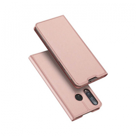 Husa Huawei P40 Lite E 2020 Toc Flip Tip Carte Portofel Roz Piele Eco Premium DuxDucis [0]