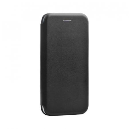 Husa Huawei P40 Lite Negru Tip Carte Flip Cover din Piele Ecologica Portofel cu Inchidere Magnetica0