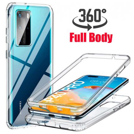 Husa Huawei P40 Pro Full Cover 360 Grade Transparenta [0]