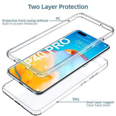 Husa Huawei P40 Pro Full Cover 360 Grade Transparenta [1]