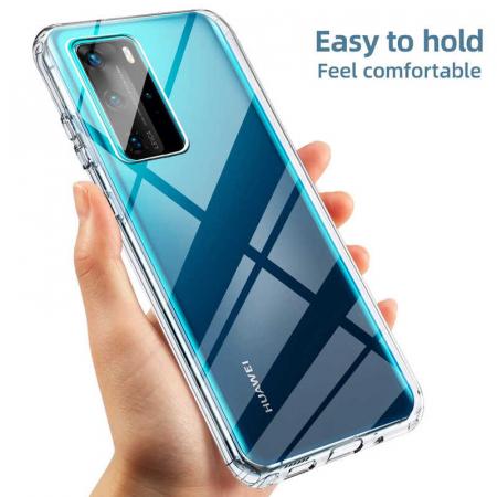 Husa Huawei P40 Pro Full Cover 360 Grade Transparenta [3]