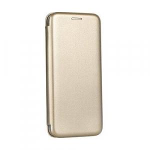 Husa Huawei P30 Lite 2019 Tip Carte Flip Cover din Piele Ecologica Auriu Portofel cu Inchidere Magnetica ( Gold )0