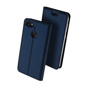 Husa Huawei P9 Lite Mini Toc Flip Tip Carte Portofel Bleumarin Piele Eco Premium DuxDucis0
