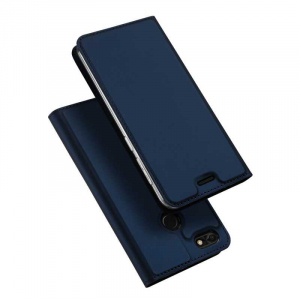 Husa Huawei P9 Lite Mini Toc Flip Tip Carte Portofel Bleumarin Piele Eco Premium DuxDucis4