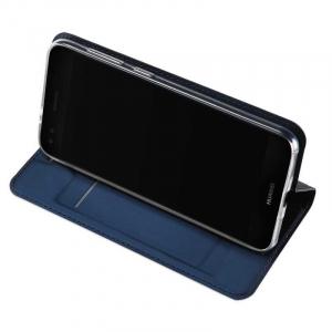 Husa Huawei P9 Lite Mini Toc Flip Tip Carte Portofel Bleumarin Piele Eco Premium DuxDucis2