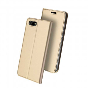 Husa Flip Huawei Y5 2018 Tip Carte Auriu Skin DuxDucis0