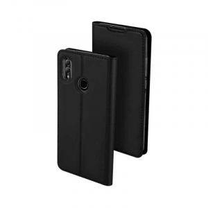 Husa Flip Huawei Y5 2019 Tip Carte Negru Skin DuxDucis