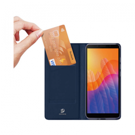 Husa Flip Huawei Y5P Tip Carte Bleumarin Skin DuxDucis1