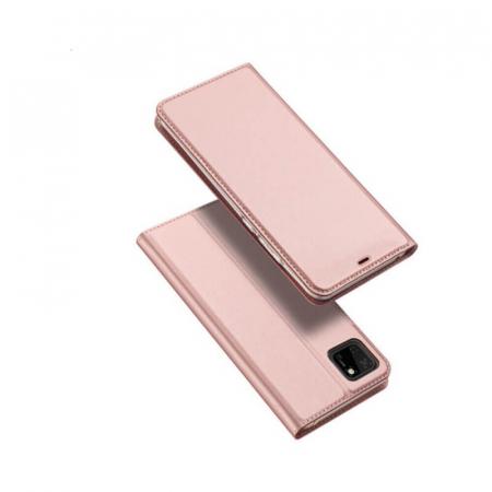 Husa Huawei Y5P 2020 Toc Flip Tip Carte Portofel Roz Piele Eco Premium DuxDucis [0]