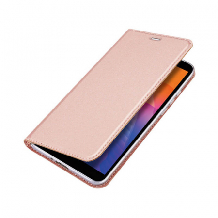 Husa Huawei Y5P 2020 Toc Flip Tip Carte Portofel Roz Piele Eco Premium DuxDucis [4]